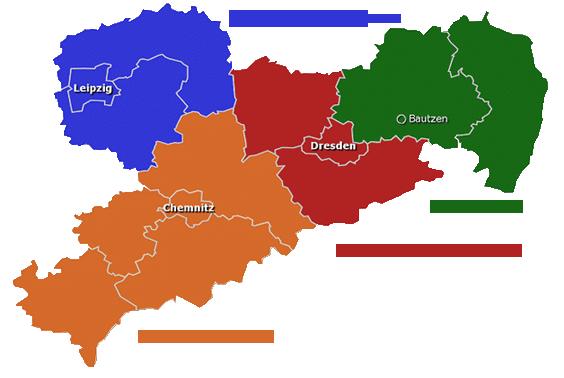DGB Regionen Sachsen Übersicht