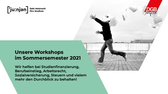 Unsere Workshops im Sommersemester 2021